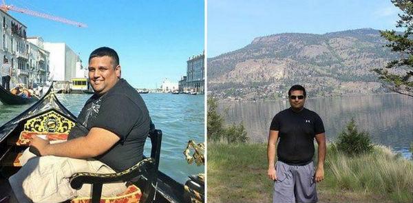 12 людей похудевших примерно на 50 кг