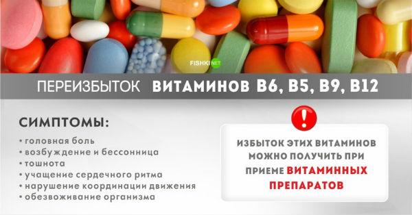 Витаминки следует потреблять в пределах разумного