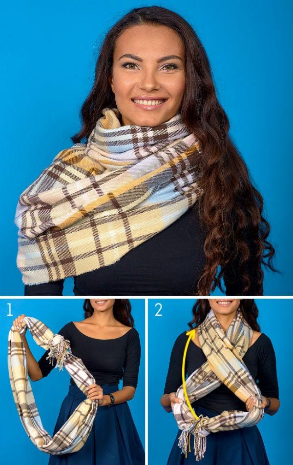Осенний образ с помощью шарфа